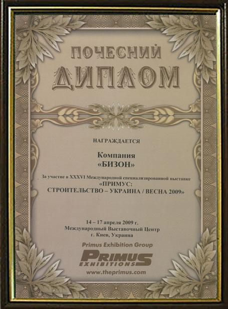 Диплом 2009 г.