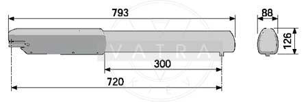 Размеры привода ATI